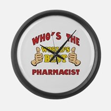 World's Best Pharmacist (Thumbs Up) Large Wall Clo