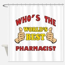 World's Best Pharmacist (Thumbs Up) Shower Curtain