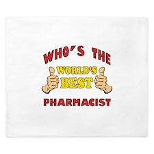 World's Best Pharmacist (Thumbs Up) King Duvet