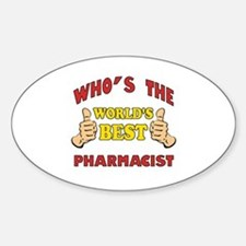 World's Best Pharmacist (Thumbs Up) Decal