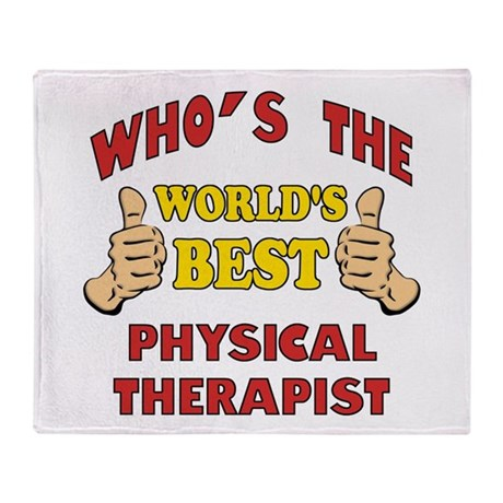 World's Best Physical Therapist (Thumbs Up) Throw