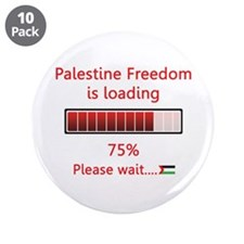 """Palestine freedom is loading 3.5"""" Button (10 pack)"""