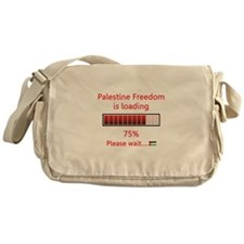 Palestine freedom is loading Messenger Bag