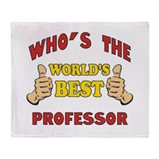World's Best Professor (Thumbs Up) Throw Blanket