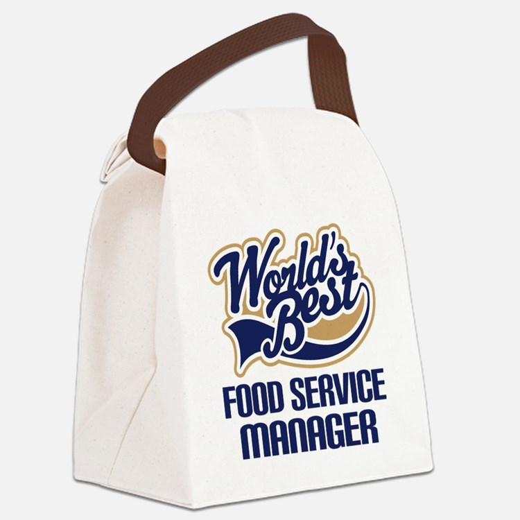 Food Service Manager (Worlds Best) Canvas Lunch Ba