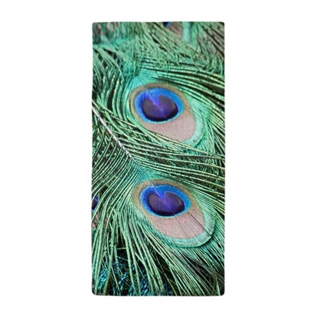 Cute Peacock Feather Beach Towel