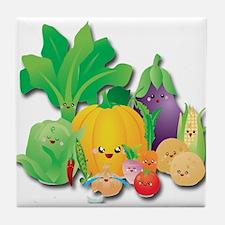 Vegetable Family Reunion Tile Coaster