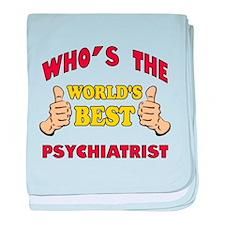World's Best Psychiatrist (Thumbs Up) baby blanket