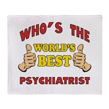 World's Best Psychiatrist (Thumbs Up) Throw Blanke