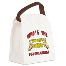 World's Best Psychiatrist (Thumbs Up) Canvas Lunch