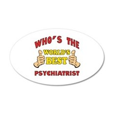 World's Best Psychiatrist (Thumbs Up) Wall Decal