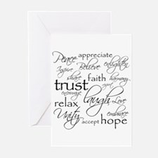 POSITIVE WORDS - Greeting Cards ( Pk of 20 )
