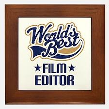 Film Editor (Worlds Best) Framed Tile