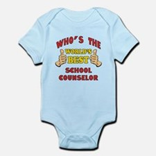 World's Best School Counselor (Thumbs Up) Infant B