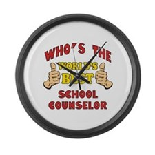 World's Best School Counselor (Thumbs Up) Large Wa