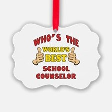World's Best School Counselor (Thumbs Up) Ornament