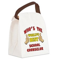 World's Best School Counselor (Thumbs Up) Canvas L