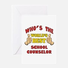 World's Best School Counselor (Thumbs Up) Greeting