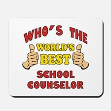 World's Best School Counselor (Thumbs Up) Mousepad