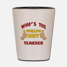 World's Best Teacher (Thumbs Up) Shot Glass