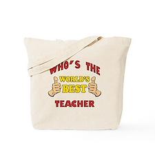 World's Best Teacher (Thumbs Up) Tote Bag