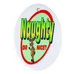 Naughty Or Nice Oval Ornament