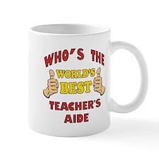 World's Best Teacher's Aide (Thumbs Up) Mug