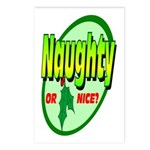 Naughty Or Nice Postcards (Package of 8)