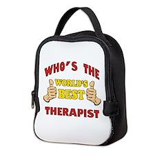 World's Best Therapist (Thumbs Up) Neoprene Lunch