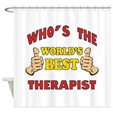 World's Best Therapist (Thumbs Up) Shower Curtain