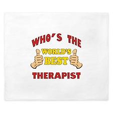 World's Best Therapist (Thumbs Up) King Duvet