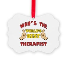 World's Best Therapist (Thumbs Up) Ornament