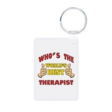 World's Best Therapist (Thumbs Up) Keychains