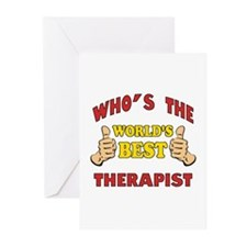 World's Best Therapist (Thumbs Up) Greeting Cards