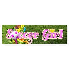 Soccer Girl Car Sticker
