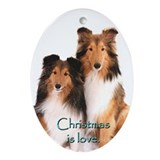 Sheltie Oval Ornaments