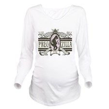pregzilla-lights.png Long Sleeve Maternity T-Shirt