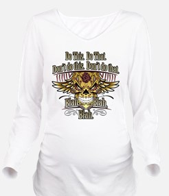 Do This Do That (dark) Long Sleeve Maternity T-Shi