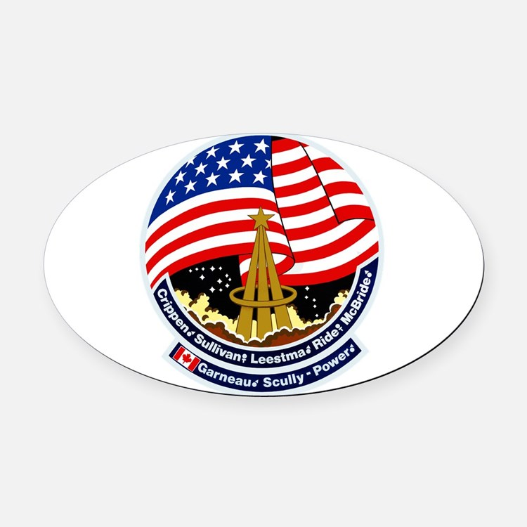STS-41B Challenger Oval Car Magnet