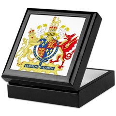 Elizabeth I Coat of Arms Keepsake Box