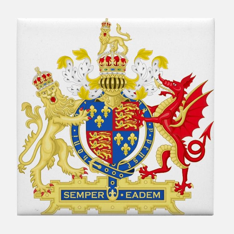 Elizabeth I Coat of Arms Tile Coaster
