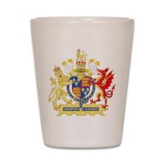 Elizabeth I Coat of Arms Shot Glass