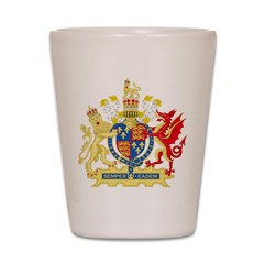 Elizabeth I Coat of Arms Shot Glass