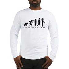 evolution of man bass clarinet player Long Sleeve