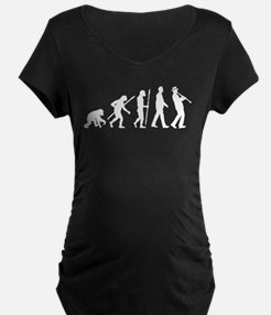 evolution of man clarinet player Maternity T-Shirt
