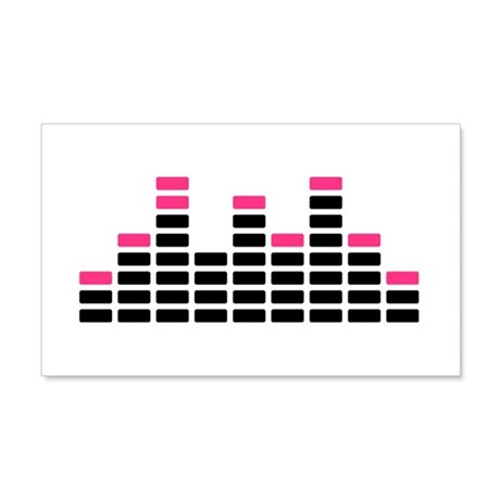 Equalizer mixing console 20x12 Wall Decal