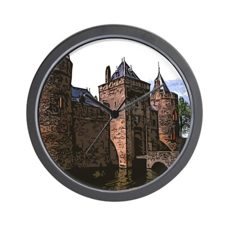 Castle Paint Wall Clock