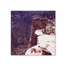 """cliff View Square Sticker 3"""" x 3"""""""