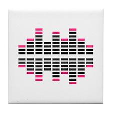 Equalizer Dj Turntables Tile Coaster