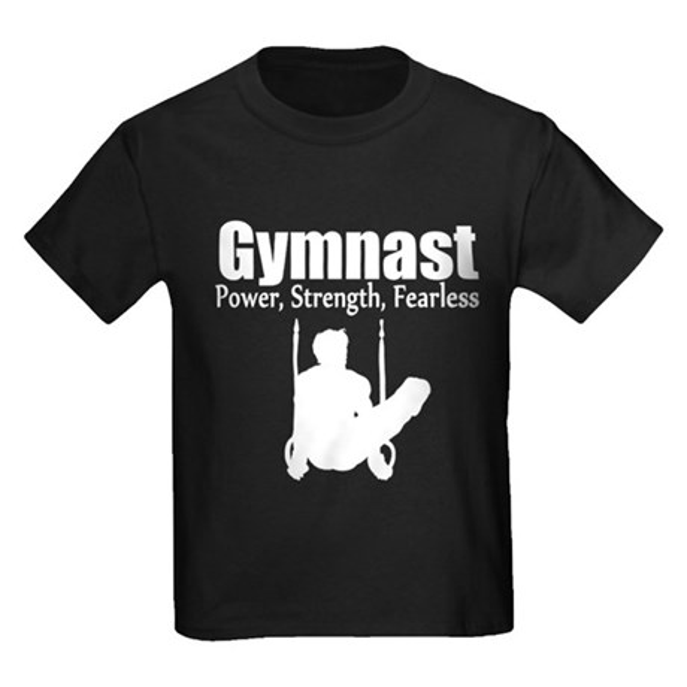 CafePress GYMNAST STRENGTH Kids Dark T-Shirt